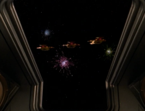 The Cardassians give them a fire-works show