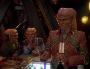 Quark and Rom are in trouble because their mother has been caught making profit