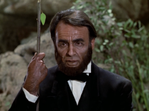 Lincoln says he'll sneak around the back and try to rescue Surak, while Spock and Kirk throw stuff at them from the front