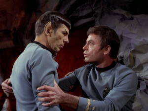 Turns out Spock is reverting back to how Vulcans acted in this time period