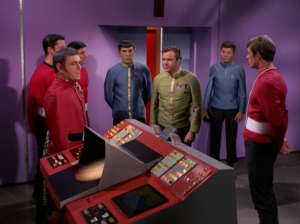 Kirk wants everyone in dress uniforms, because even though he's obviously not the real Lincoln, he thinks he is. Yeah, but he probably doesn't even know those are your special uniforms