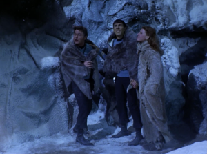 Bones decides he's gonna try to get out of there, and Spock goes too