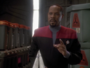 Sisko wants to build a replica of an ancient Bajoran ship. Rumor has it that Bajorans were in space while humans were just making there way across oceans