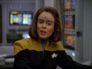 B'Elanna is experimenting with her hair