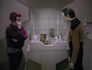 This guy collects extremely rare and valuable things, like this weird sock puppet. Data is now part of his collection
