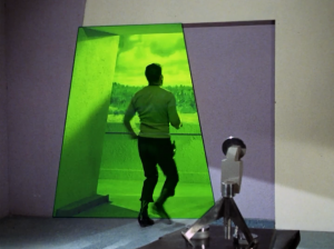 Kirk hears someone yell outside, so he runs in that direction, but he goes through a portal. The old guy warns that he hasn't been properly prepared