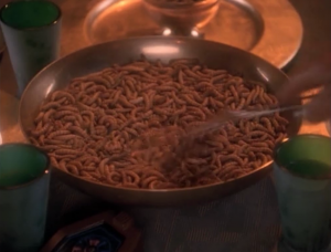 Ferengi mothers are supposed to chew up the food for their family, so it's easier to swallow. Dumb