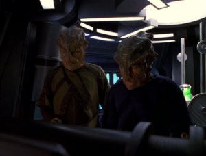 They need more evidence so they try to find Voyager. One of the things I really like about this episode is the way it takes on the perspective of outsiders who are tracking and observing Voyager