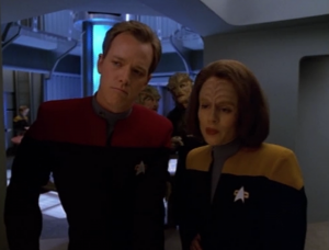 They have personal cloaking devices so that they can safely watch Tom and B'Elanna flirt with each other
