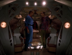 Jake is going to go on the trip too. They plan on going through the roughest part of space. They figure if they get through that it goes a long way to show that the Bajorans could've made it all the way to Cardassia, as the Bajorans claim