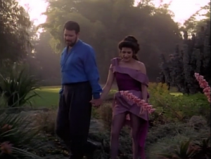 Riker and Troi go on vacation together because they aren't need for the current mission