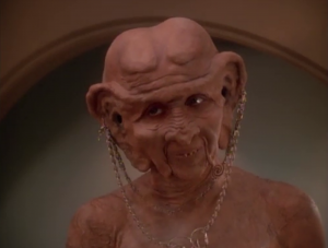 Ferengi women are never supposed to wear clothes. Dumb