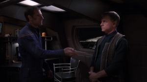 Archer tells the captain of the other Enterprise that he doesn't want to do his dumb modifications