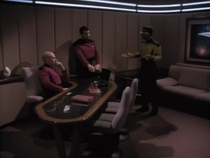 Geordi doesn't like how some things aren't adding up regarding Data's death