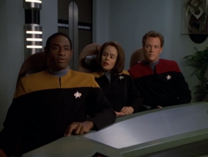 Janeway tries to figure out who wrote it, and Tuvok admits that it was him. That's kind of what I figured