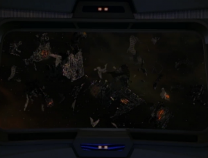 They find the wreckage of all those Borg cubes