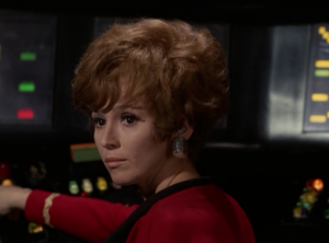 I think Uhura used to have a different color hair too