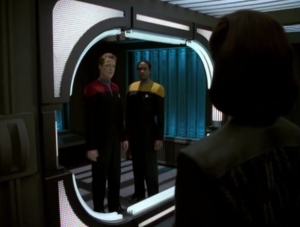 Paris and Tuvok go into the holodeck to finish the story but Seska had set a booby trap. Apparently she wanted to kill Tuvok which would probably get her in a lot of trouble if she was still alive (and she probably would assume she would be), and she wanted to do it with an elaborate holo-novel trap