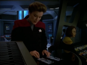 Janeway has to rewrite the story in order to save Tuvok and Paris