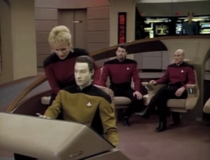 Shelby gets an idea. It breaks them free from the tractor beam