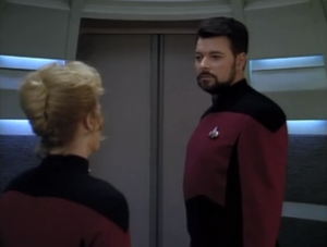Shelby asks for permission to speak freely! Uh oh. She says that Riker isn't cut out for making the big decisions, and that he needs to get out of her way