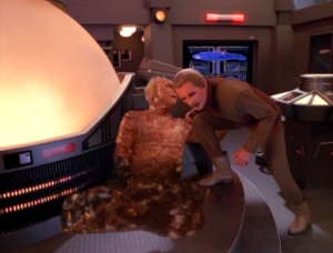 Before he dies, he tells Odo that they have Changelings everywhere