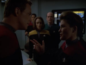 Janeway comes up with an idea to make an alliance with the Borg