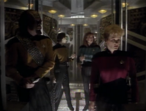 Shelby leads a team to get Picard back, and to try to slow down the Borg