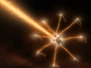 But Species 8472 attacks and if 9 of them get together they can make a beam that destroys a planet. Why not