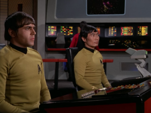 Chekov and Sulu decide they aren't gonna press buttons anymore