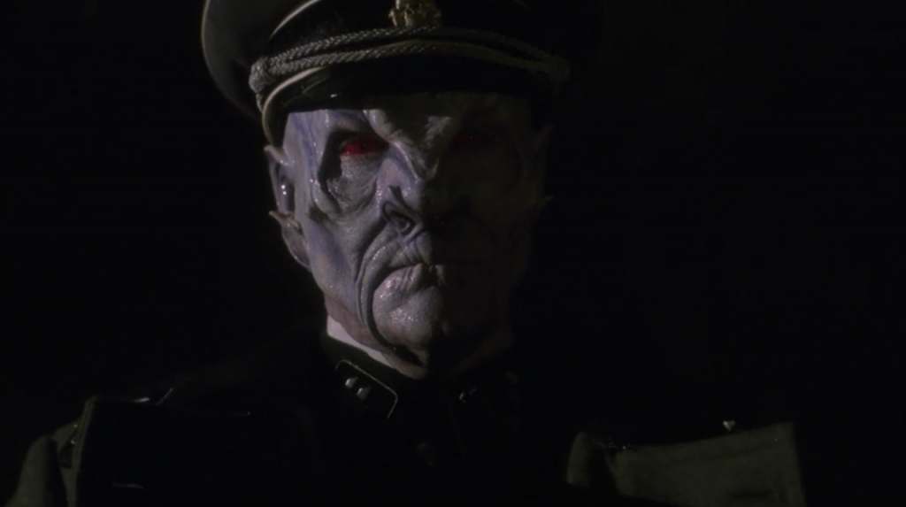 We see an alien Nazi. This cliffhanger is mainly just exhausting, not intriguing. Are they really doing this?