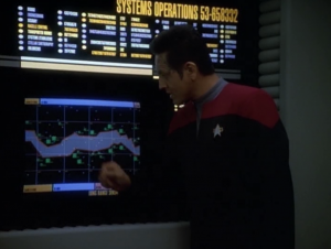 The Borg are avoiding an area of space for some reason and Voyager thinks they can travel through there