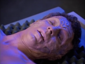 The guy wakes up but he doesn't remember anything. Beverly calls him John Doe