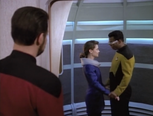 Ever since Geordi linked with that guy, he's had more confidence.