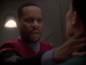 Sisko has to be the crazy guy