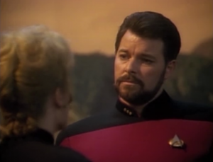 Shelby shows a bit too much ambition in continually going around Riker's authority