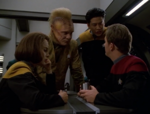 B'Elanna and Tom were trying to keep it a secret since the subject was scandalous and the author was anonymous, but everyone finds out about it