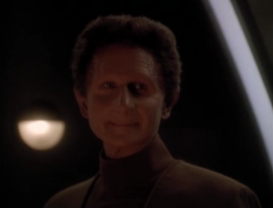 Curzon goes into Odo's body, and rather than the host briefly taking over the body, they meld together