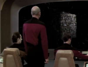 """""""Mr. Worf, dispatch a subspace message to Admiral Hanson. We have engaged the Borg."""""""