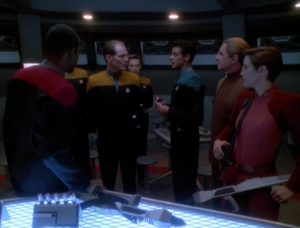 They decide to do a blood test and just hope that the enemy changeling isn't posing as Odo