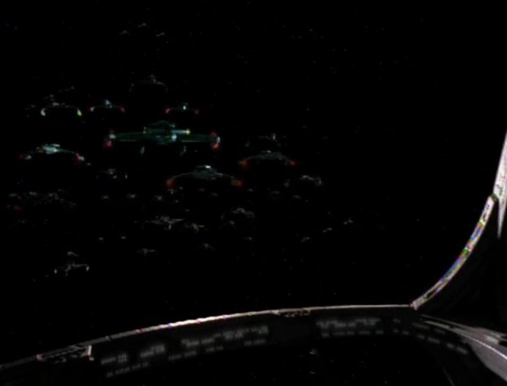 A lot of Klingons arrive at DS9. They want the Cardassian leaders, even though Sisko has verified that they aren't changelings. They threaten to fight each other, but come on. We've seen this before. Sisko will just talk some sense into them