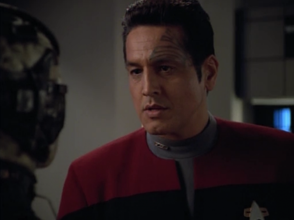 So Chakotay breaks the alliance with the Borg, says they'll drop them off on some planet and give them some nano-probes