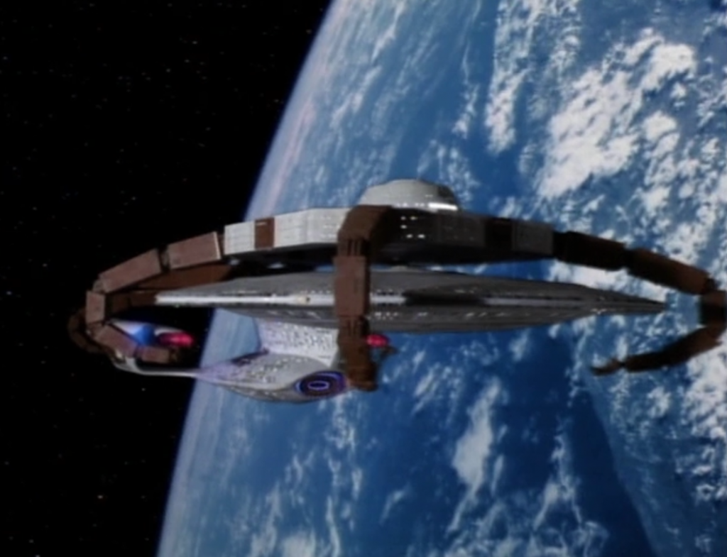 Enterprise needs some repairs after the encounter with the Borg, so they're taking a break on Earth