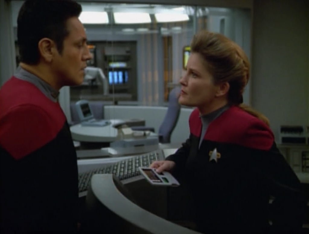 Janeway gets better, and she's not that happy.