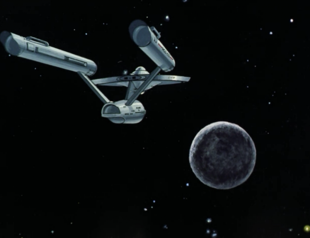 """Enterprise get's sucked into a dead star """"beyond the fringe of the galaxy."""" It's interesting that in both episode written by Samuel Peeples (this and Where No Man has Gone Before) he makes special"""