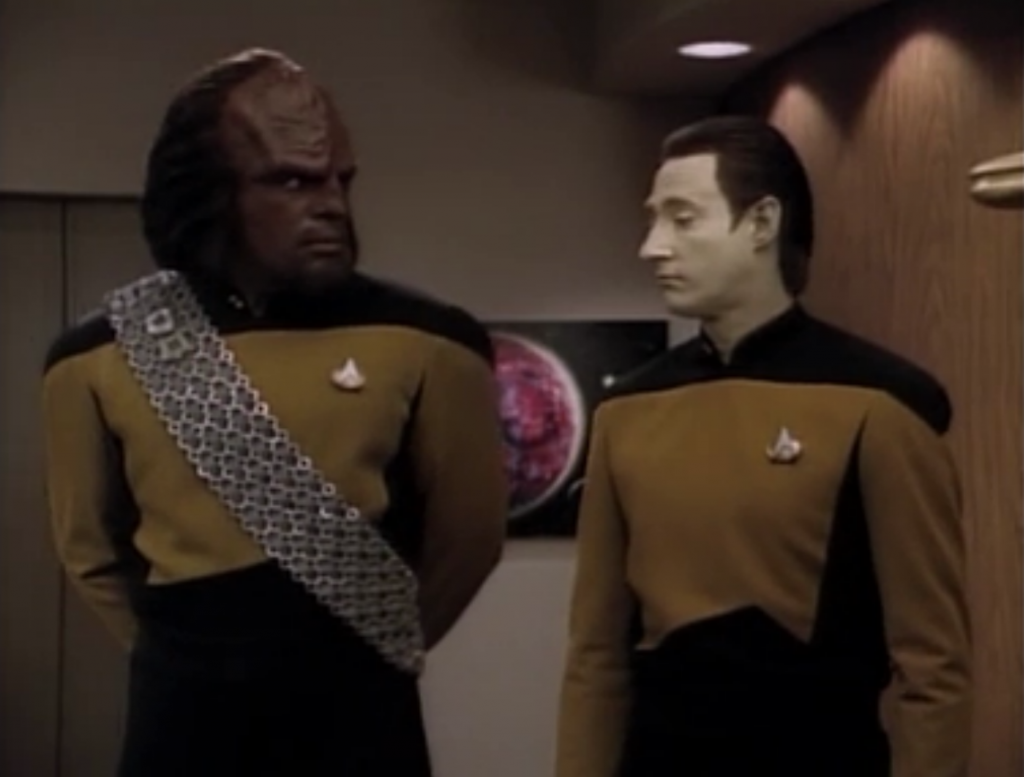 Riker makes Shelby the first officer