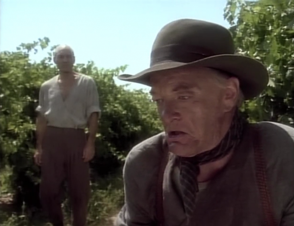 Picard goes to his home village in France, so naturally his family speak with a British accent