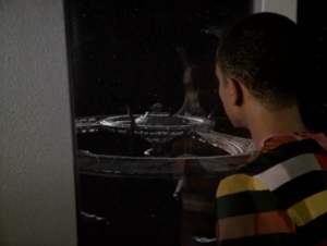 After a while the Klingons take control of DS9 and Jake has to leave