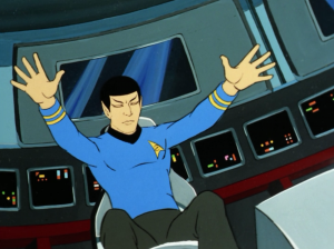 Spock tries to talk to the cloud with his mind