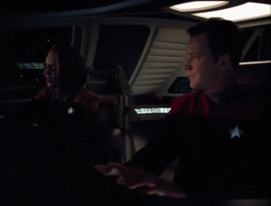For some reason only B'Elanna and Paris go to retrieve the warp core in a shuttle, even though Voyager isn't really doing anything